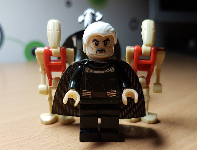 Count Dooku, General Grievous and battle droids Clone Wars Star Wars art  lego