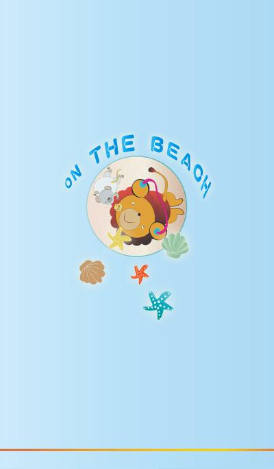 ON THE BEACH: LULU lion seaside play
