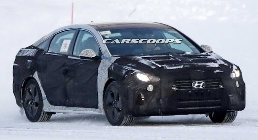 2018 Hyundai Sontata Tries To Hide Its Fresh Face In The Snow