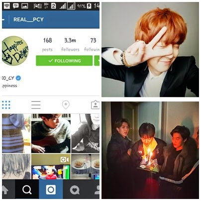 foto instagram chanyeol exo
