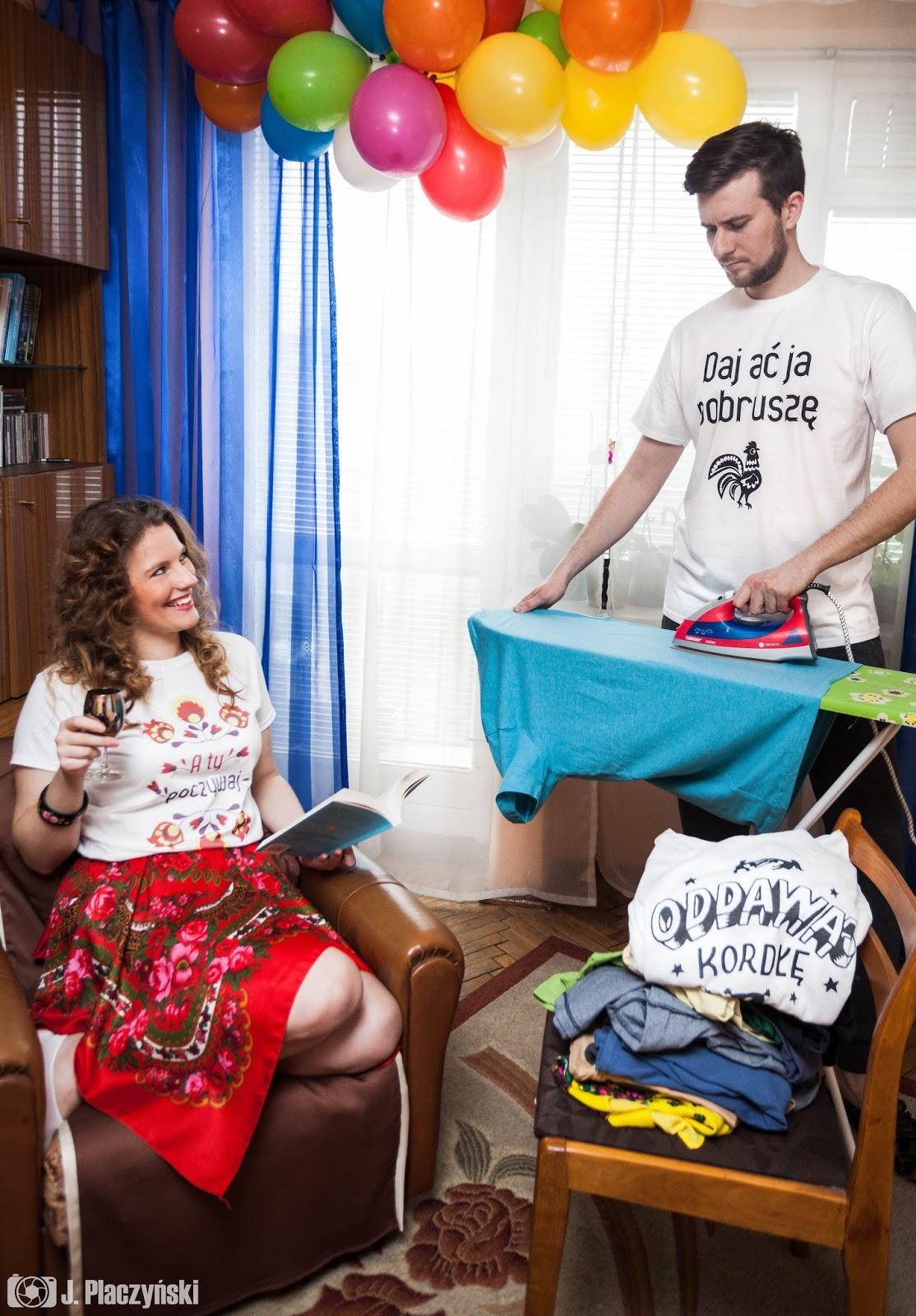pobrusze daj ac ja pobrusze a ty poczywaj ludowy motyw koszulki dla zakochanych par walentynki love chlopak dziewczyna milosc prezent koszulove
