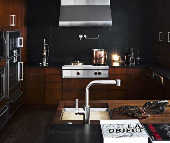 moody kitchen