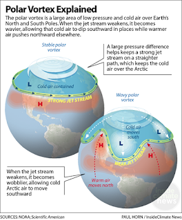 Polar Vortex Explained (Credit: Paul Horn/Inside Climate News) Click to Enlarge.