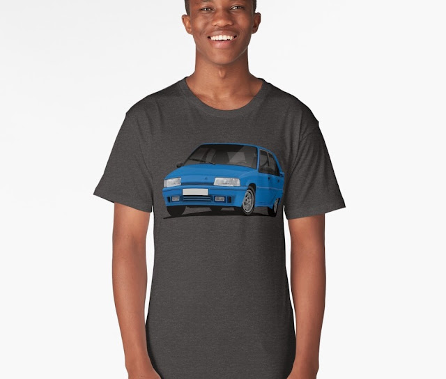 Citroen BX GTi t-shirt - blue