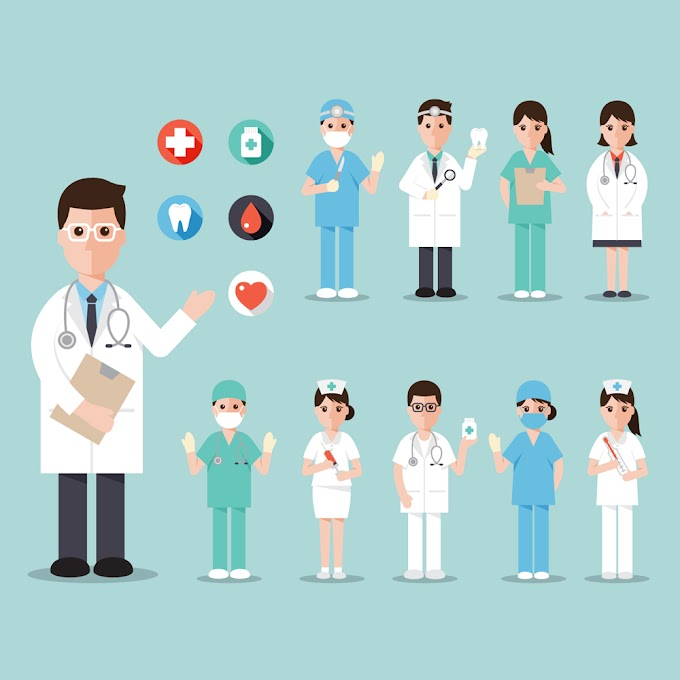 10 creative medical staff design free vector material