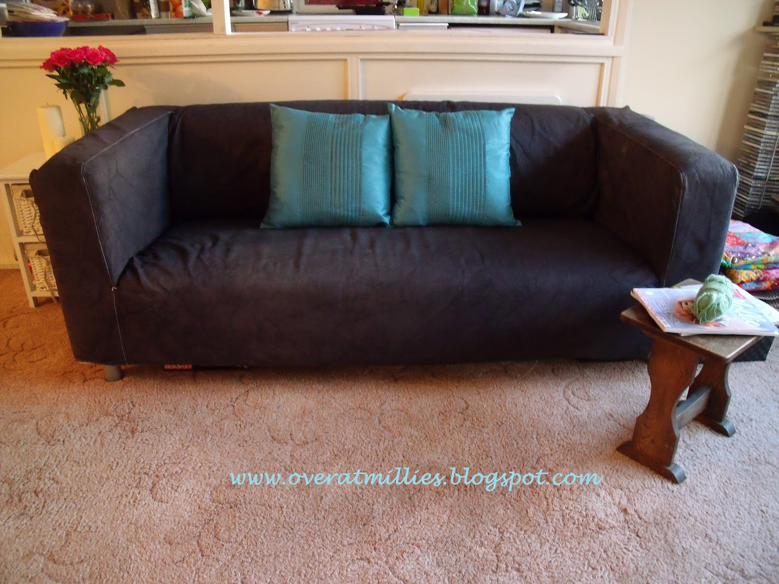 sofa cushions without covers swedish company over at millie 39s how to dye a klippan cover