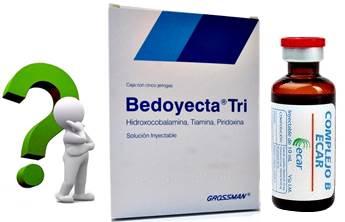 La Bedoyecta puede ser mejor que las inyecciones de complejo b