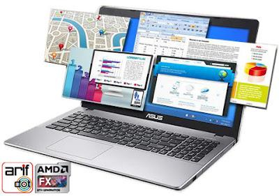 Notebook Asus X550ZE perfomance mumpuni