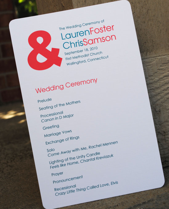 25 Best Non Traditional Processional Songs: Non-Traditional Wedding Programs