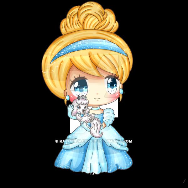 princess Cinderella chibi công chúa cô bé lọ lem 3