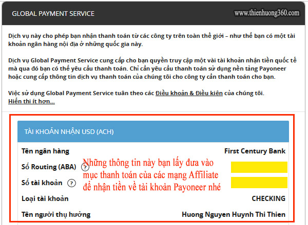 Hình 5.2: Giao diện Global Payment Service