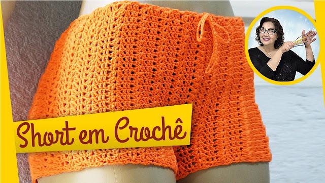 Short de Crochê Como Fazer do Jeito Certo Passo a Passo com Edinir Croche