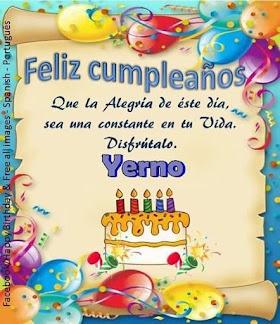 Frases para desear Feliz Cumpleaños Yerno