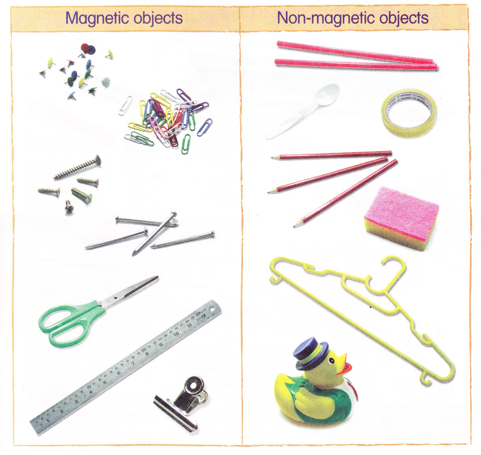 Science Magnet Magnetic And Non Magnetic Objects