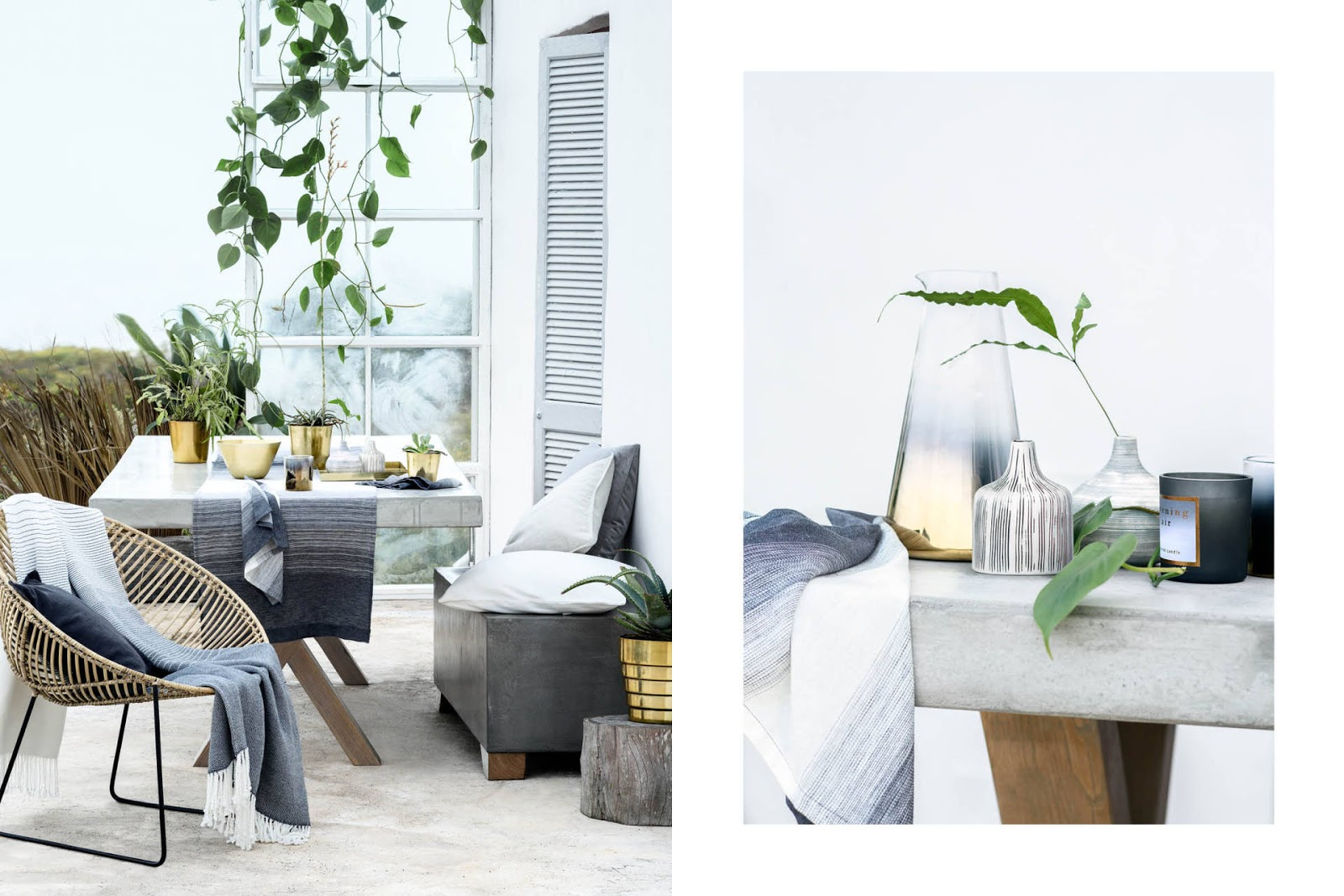 h&m home decorar jardín gris