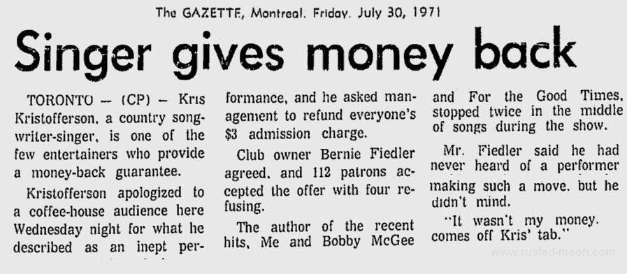 Montreal Gazette vom 30.07.1971