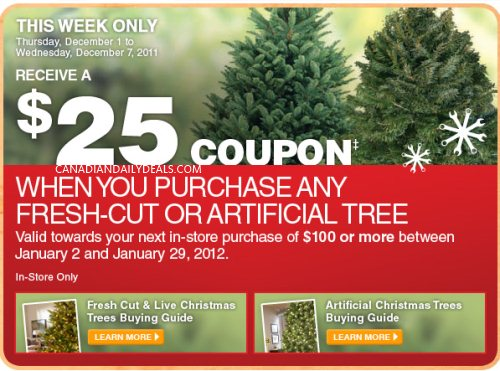 Canadian Daily Deals: Home Depot: Receive $25 Coupon With