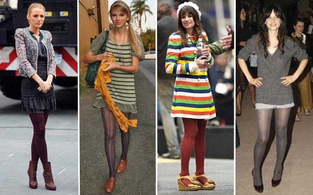 05fba70d3 Saiba como apostar na meia calça colorida e estampada para completar os  looks de inverno