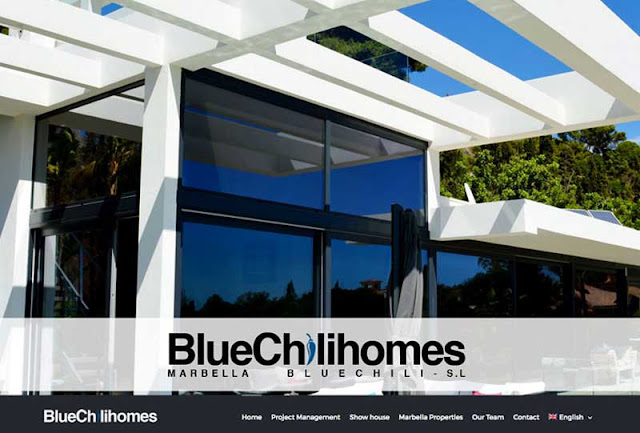 Website Design for New developments Agents in Marbella  Blue Chili Homes Real estate Agency