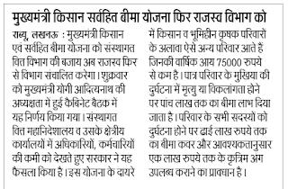 UP Kisan Sarvhit Bima Yojana, Online Form Name List In Hindi
