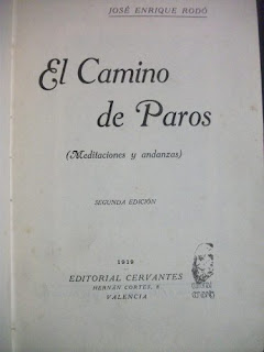 El camino de Paros - J. E. Rodó