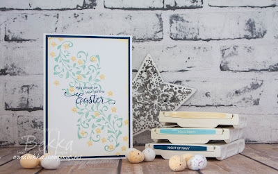 Pretty Floral Easter Card featuring products from Stampin' Up! UK