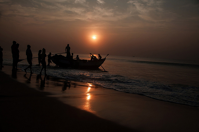 Sunset View at Puri Beach
