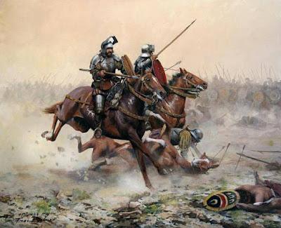 Carga de Caballería en la batalla de Otumba