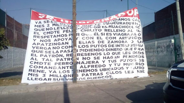 "En Narcomanta ""Los Viagras"" acusan a gobernador de Michoacán Silvano  de recibir sobornos millonarios"