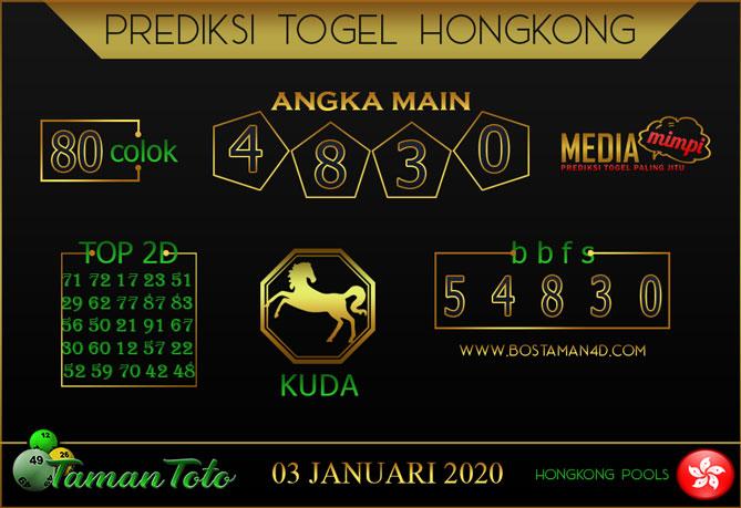 Prediksi Togel HONGKONG TAMAN TOTO 03 JANUARI 2020