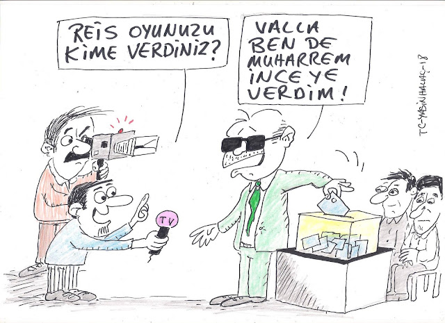 oy vermek karikatür