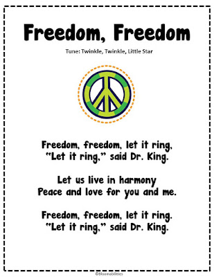 First Grade Bloomabilities: Martin Luther King Day Free Poem