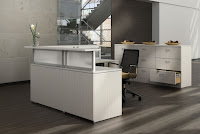 Modern White Reception Desk