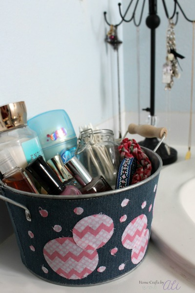 bathroom health beauty hair decorated storage bin
