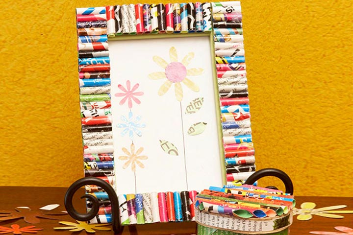 Photo frame craft ideas art craft gift ideas for Old picture frame projects
