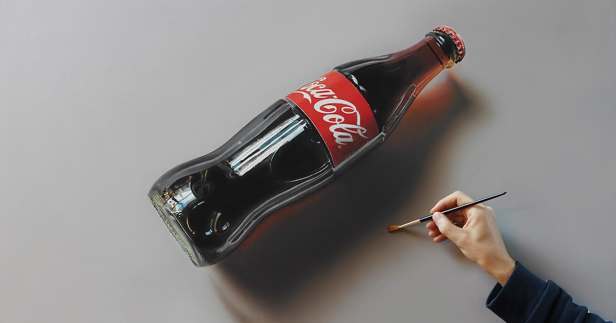 Coca Cola Glass Bottle Drawing