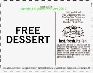 free Discount coupons february 2017