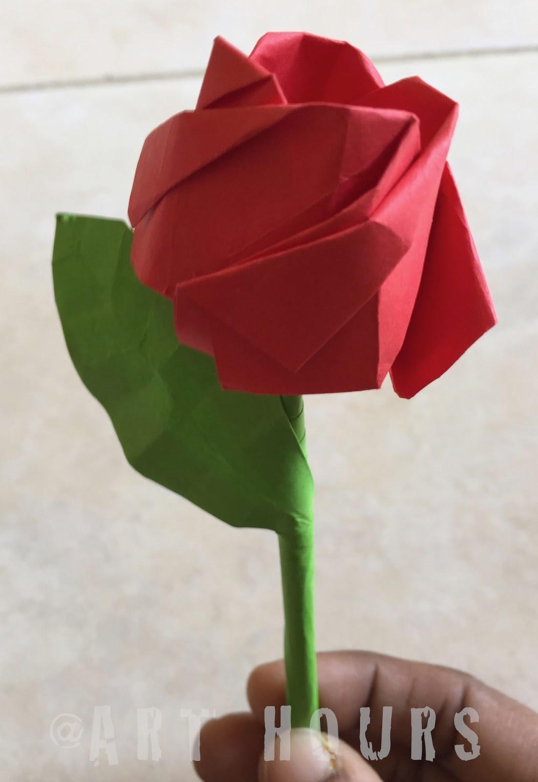 ArchGuide: Origami Rose - photo#7