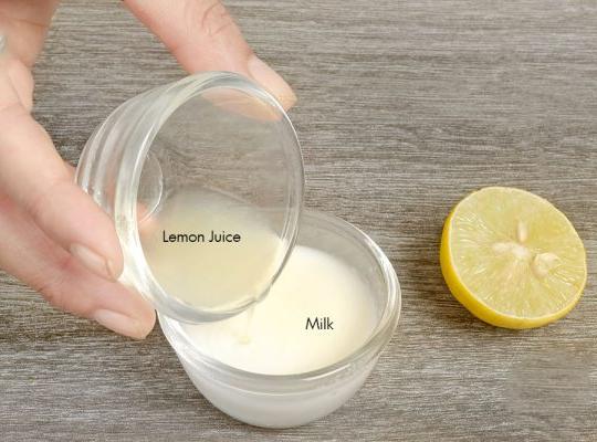وصفة  عصير الليمون مع الحليب
