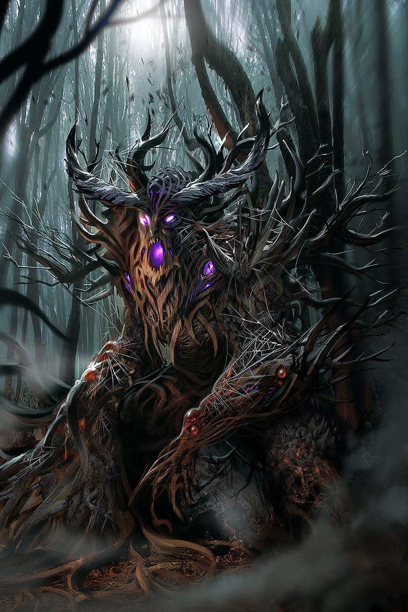 Cireisdead Sorcery Concept Art Evil Forest Guardian