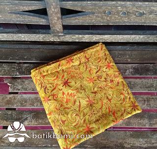 Kain batik cap smoke kenanga