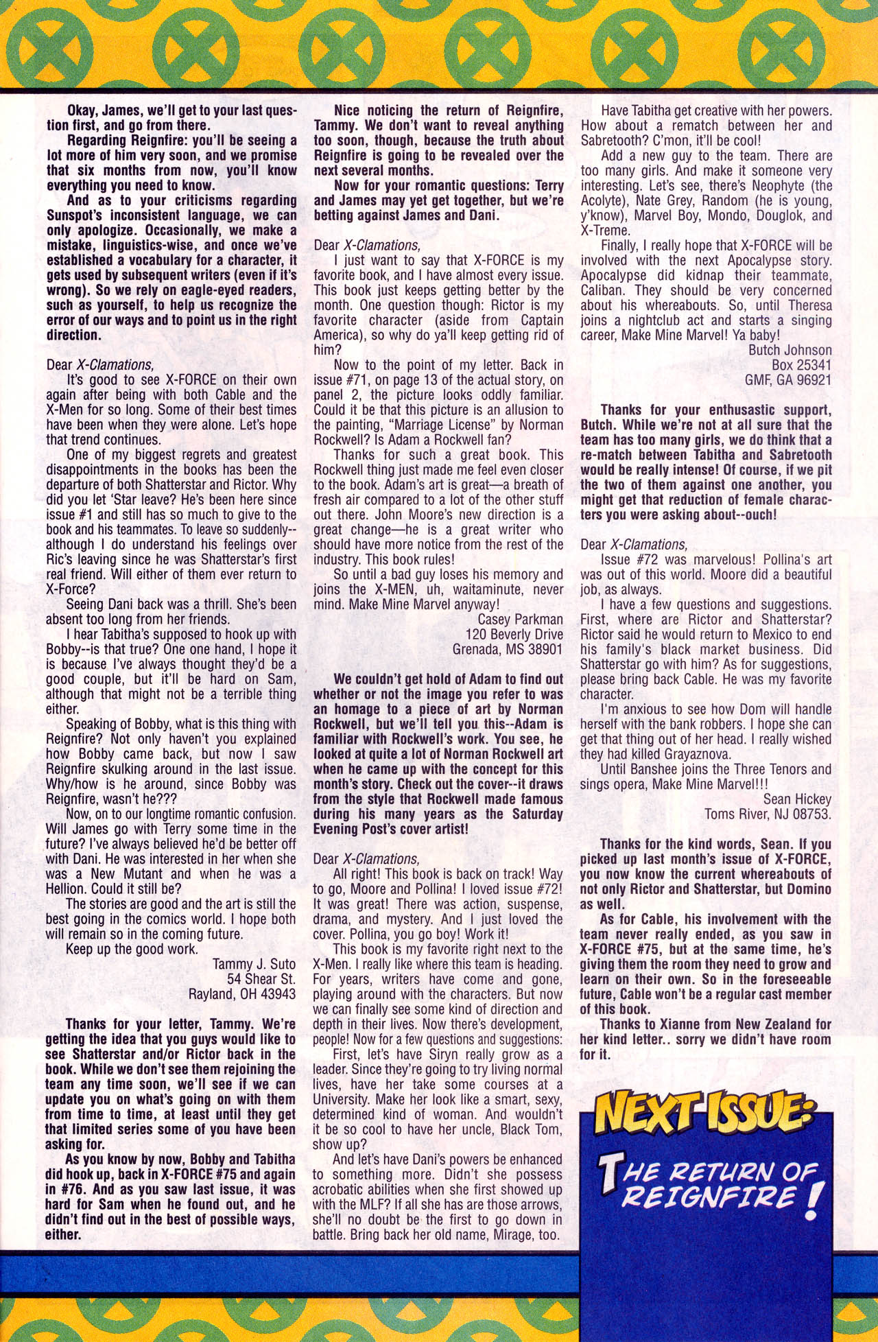 Read online X-Force (1991) comic -  Issue #77 - 22