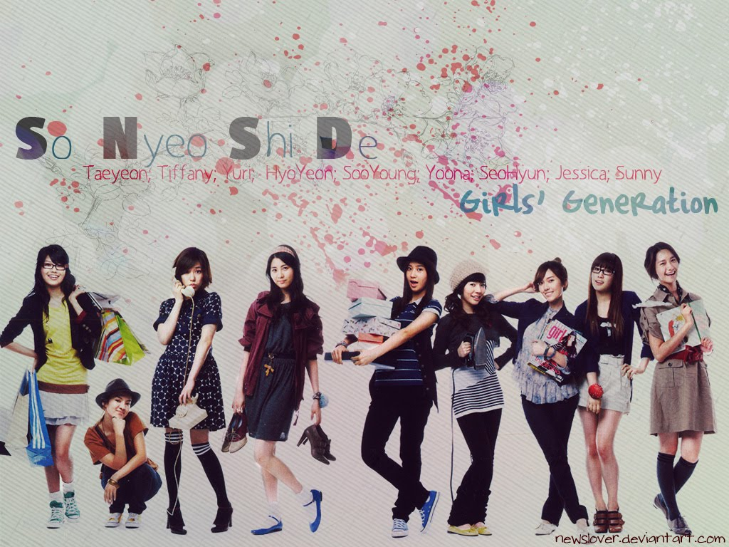 SNSD College Students Style Wallpaper   SNSD Artistic Gallery