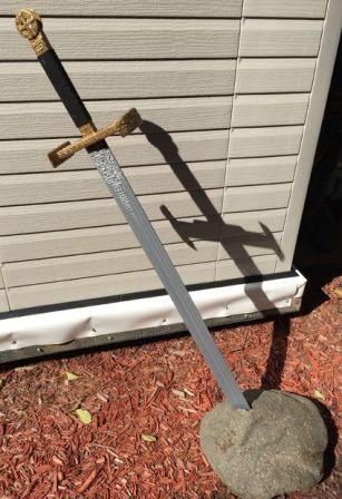 diy pedang excalibur