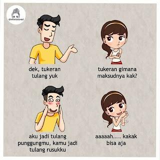 30 Meme Ilustrasi Gambar Kehidupan Cewek dan Cowok di Jaman Sekarang, Menohok Banget!