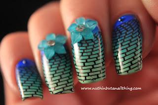 geometric nail art