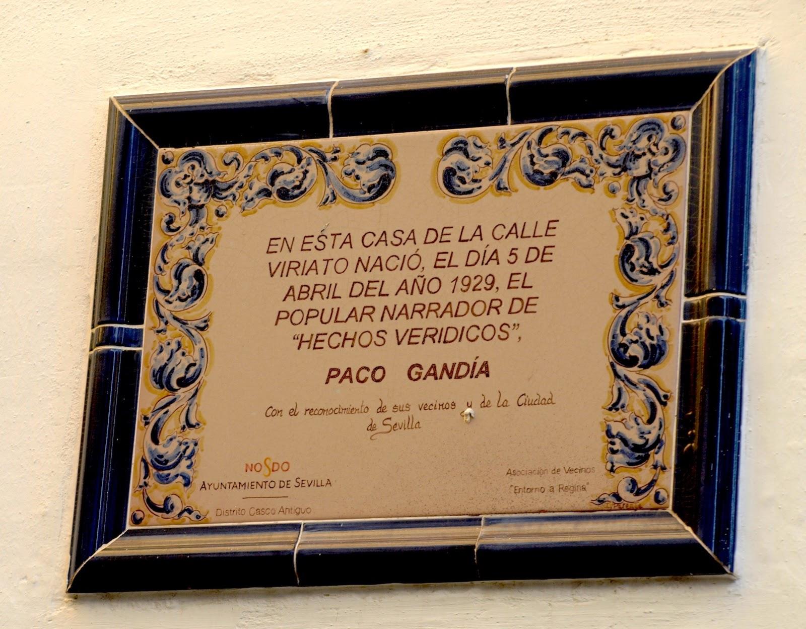 Sevilla daily photo la casa natal de paco gand a - La casa del pintor gandia ...