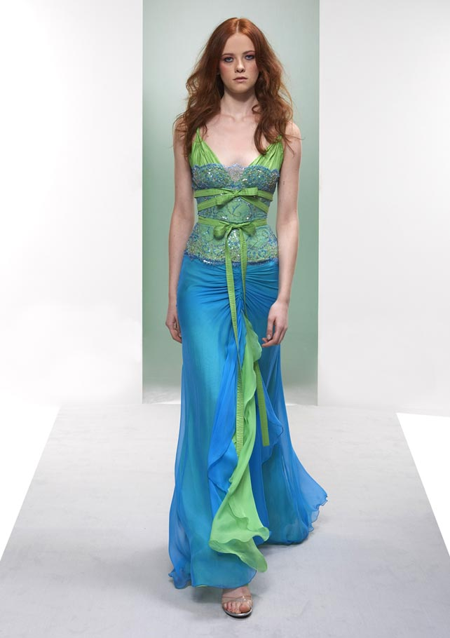 Blue And Green Dress 55