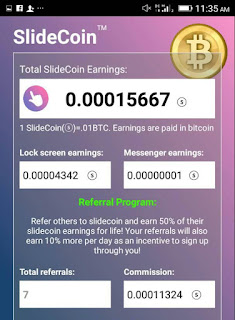 How To Earn Free Bitcoin Using SlideCoin App