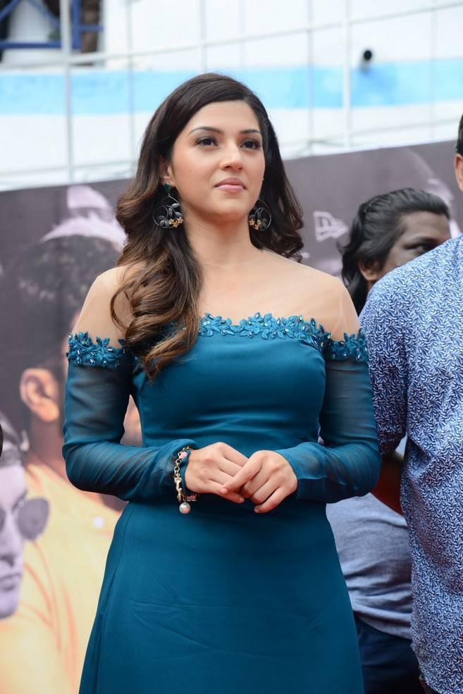 Mehreen Kaur In Blue Dress
